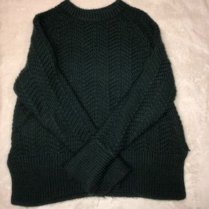H&M dark green/ emerald thick pullover sweater